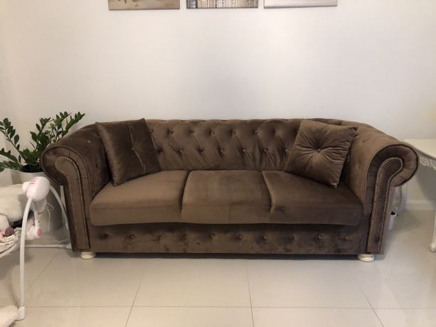 Sofa,kanapa chesterfield z funkcja spania,nowa