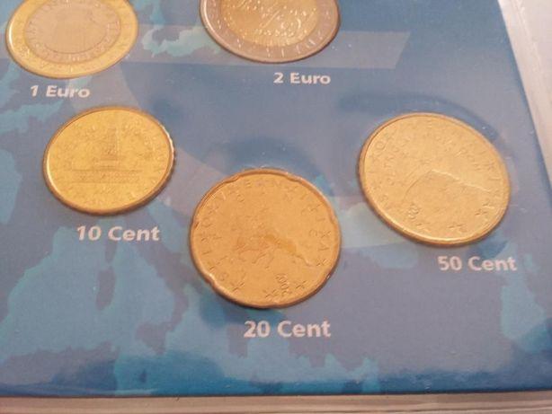 moedas Euro série completa Eslovénia 2007 rara