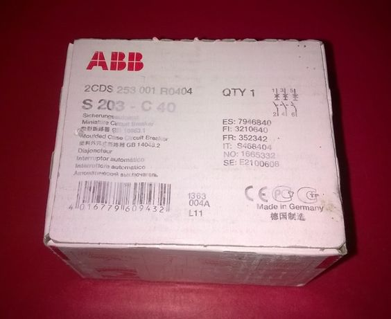 Автомат ABB S203 C40