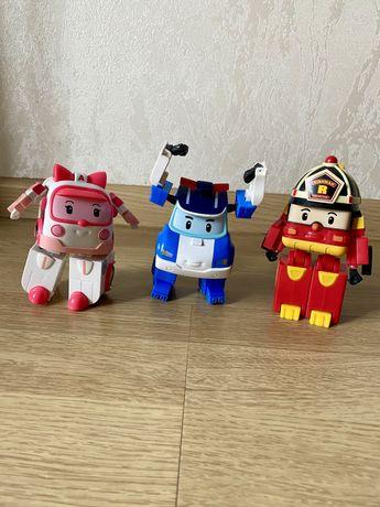 Машинки Robocar Poli (оригинал) Поли, Эмбер, Рой