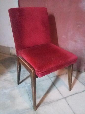Krzesło PRL, do renowacji. J. Chierowski, fotel, AGA