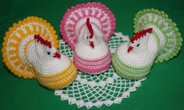 Szydełkowe kurki Wielkanoc 1