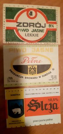 3 etykiety z Browaru Sobótka
