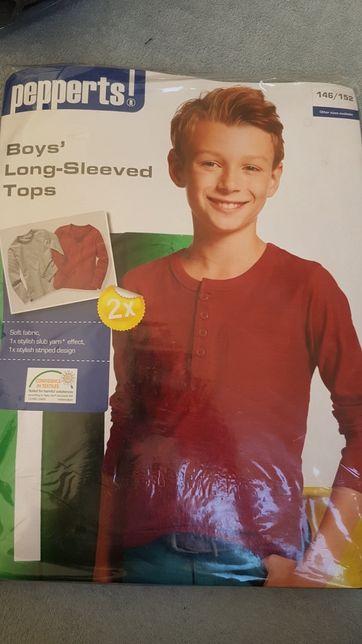 Bluzki chłopięce z długim rękawem 146/152 2-pack