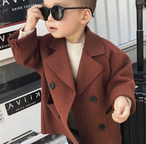 Новое пальто кирпичного цвета