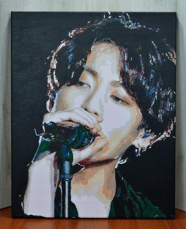 Картина по номерам розмальована jungkook bts kpop