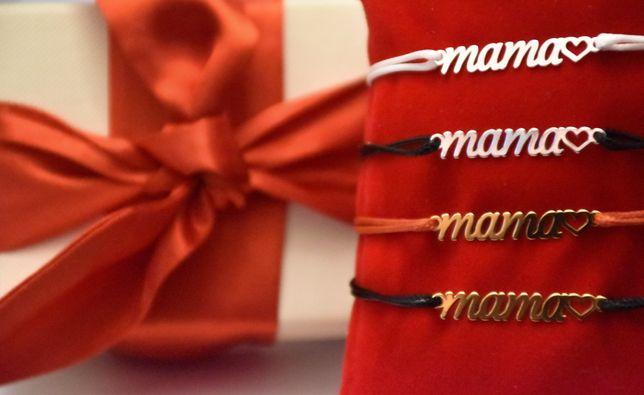 Bransoletka sznurek MAMA srebro 925 / srebro pozłacane