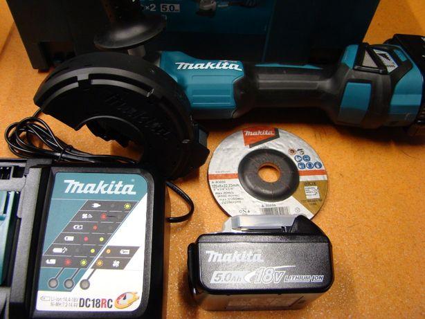 Akumulatorowa szlifierka kątowa Makita DGA513RTJ
