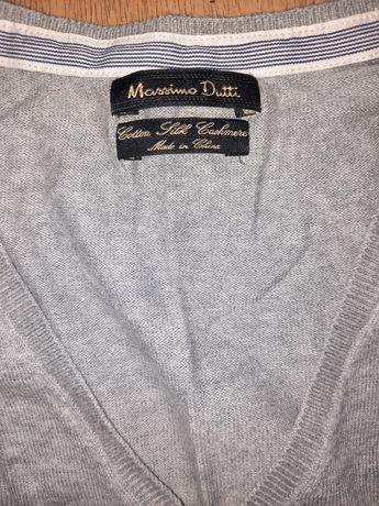 Massimo Dutti lekki sweterek bluzka w serek rozm S/M
