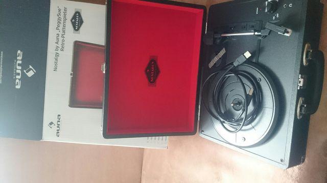 Gramofon walizkowy AUNA (nowy)