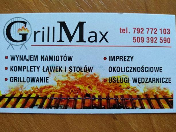 Wynajem namiotów bankietowych, grillowanie GrillMax