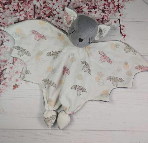 Комфортер летучая мышь, мышка, подарок на рождение, крестины