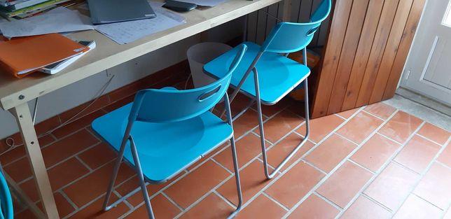Seis cadeiras azuis turquesa, IKEA