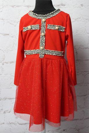 Sukienka Tiulowa Elegancka 104 Święta Świąteczna