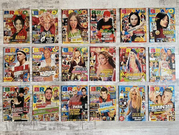 68 starych gazet BRAVO i POPCORN z plakatami!
