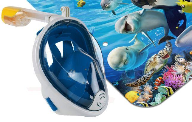 Маска для снорклинга (подводного плавания) XS, S-M, L-XL Полнолицевая