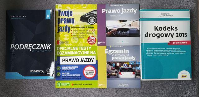 Prawo jazdy Testy egzaminacyjne , Podręcznik kursanta i Kodeks drogowy