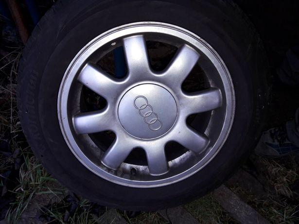 """Felgi aluminiowe 15"""" cali Audi A4 B5 B6 całe koła opony letnie 195/65"""
