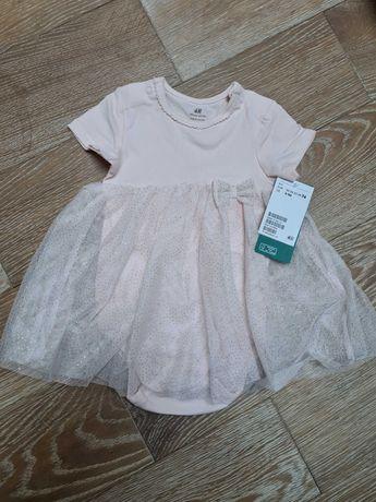 Платье-боди 6-9 месяцев h&m платье боди