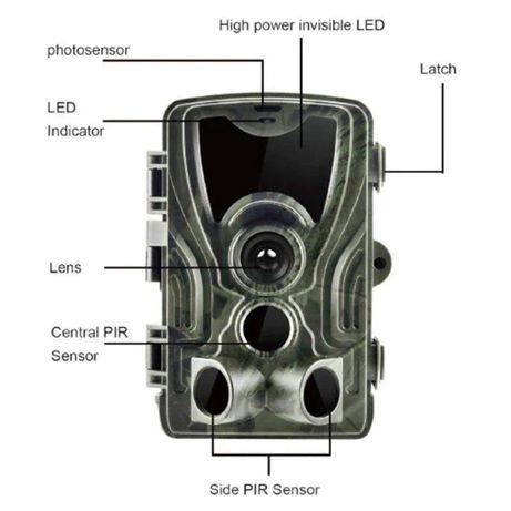 Фотоловушка, охотничья камера Suntek HC-801A, базовая, без модема
