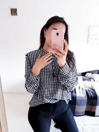 Czarno Biała koszula w kratę XL 42