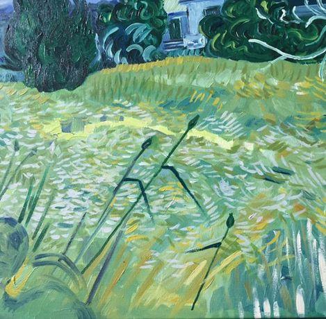 Продаётся картина маслом пейзаж с кипарисом