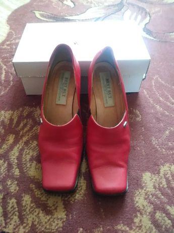 Buty skórzane damskie