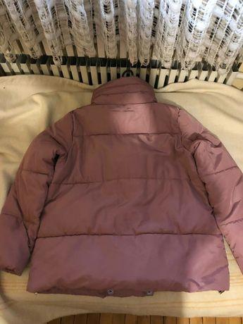 Розовая курточка зимняя пуховик
