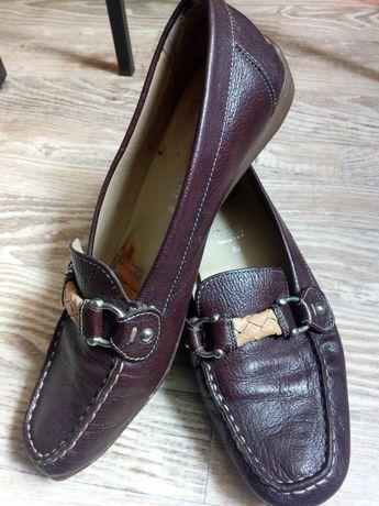40p.Geox! Кожаные мокасины туфли