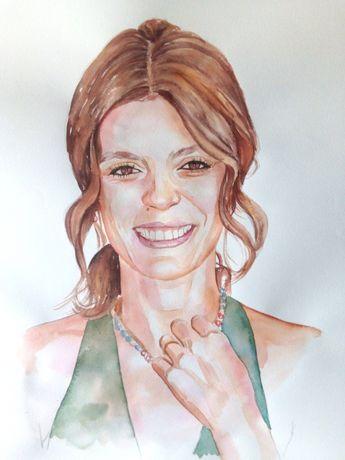 Desenhos e pinturas de retratos. Aulas online grátis