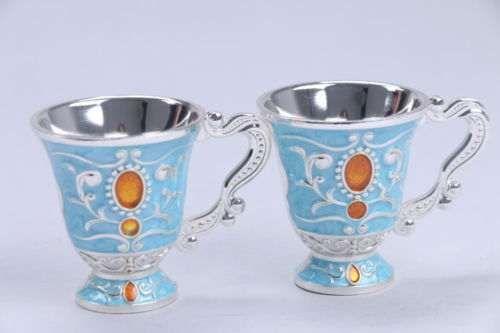 Conjunto duas chávenas - artesanato de Marrocos
