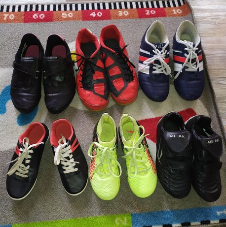 Кроссовки,бутсы,футзалки размер 29-38,puma, kipsta,Lacoste, Nike