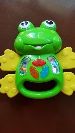 Grająca i świecąca żabka