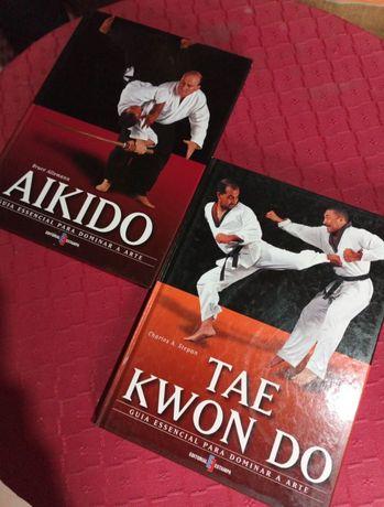 Conjunto de livro de Aikido e Tae Kwon Do
