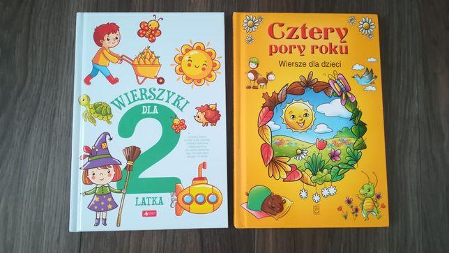 2 ksiazki wiersze dla dzieci