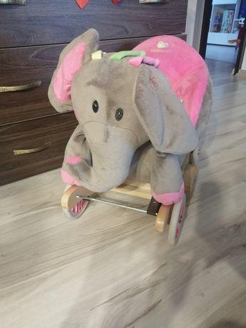 Bujak bujaczek słoń słonik na biegunach z gumowymi kółkami jeździk