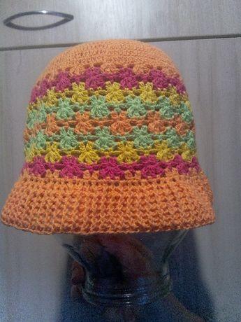 Продам вязаную панаму (шапку шляпу )на ребенка 4-6 лет ручная работа