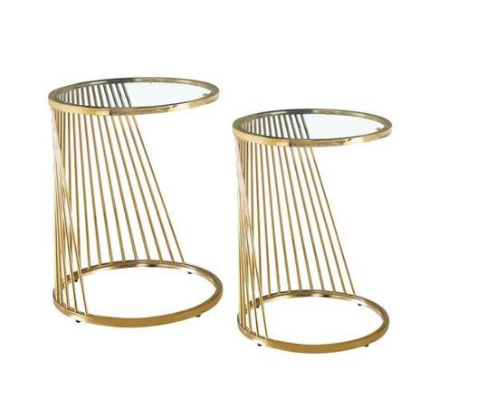 Mesas de Apoio de Inox dourado ou Inox - 2 Modelos By Arcoazul