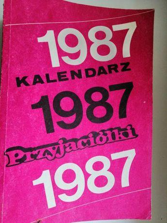 kalendarz przyjaciółki 1987r