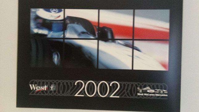 Kalendarz WEST z McLaren F1 z 2002r
