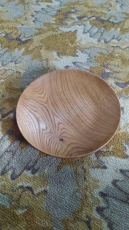 тарелка дубовая полукруглая 24см вскрытая