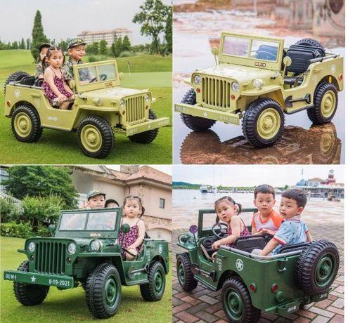 Samochód Auto na akumulator dla dzieci Wojskowy 4x4 +3 OSOBOWY Do60KG