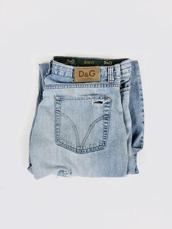 DOLCE & GABBANA 34 vintage джинсы голубые, винтаж, рааные, оригинал