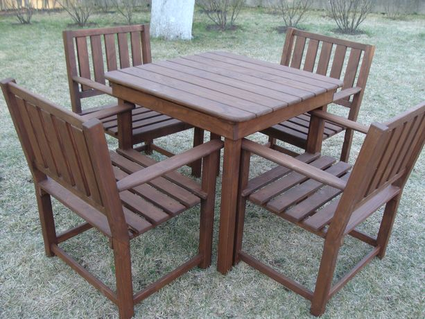 Садовая мебель, комплект стол + 4 кресла