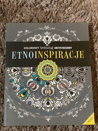 Etnoinspiracje kolorowy trening antystresowy książka do kolorowania