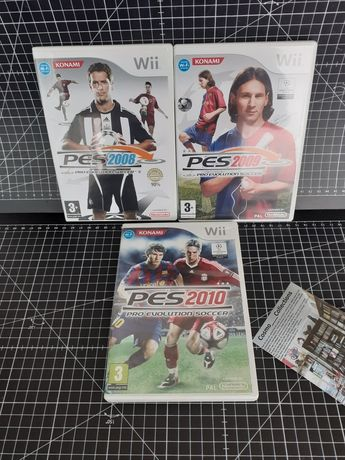 Jogos Nintendo Wii Pro Evolution Soccer 2008 a 2010.
