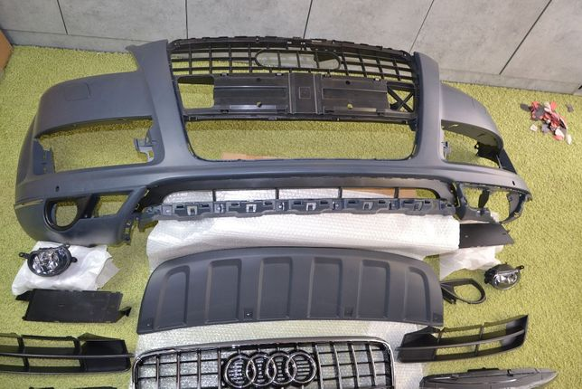 Бампер Ауди Q7, Бампер Audi Q7 Рестайл 4L. Бампер Ку7 голый и в сборе