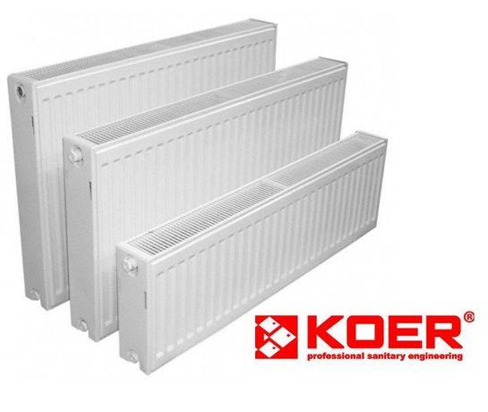 Стальной радиатор отопления KOER 22тип боковое и нижнее подключение