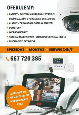 Kamery Monitoring Alarmy TV naziemna elektryka wycena gratis