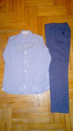 Zestaw H&M koszula spodnie rozm 140
